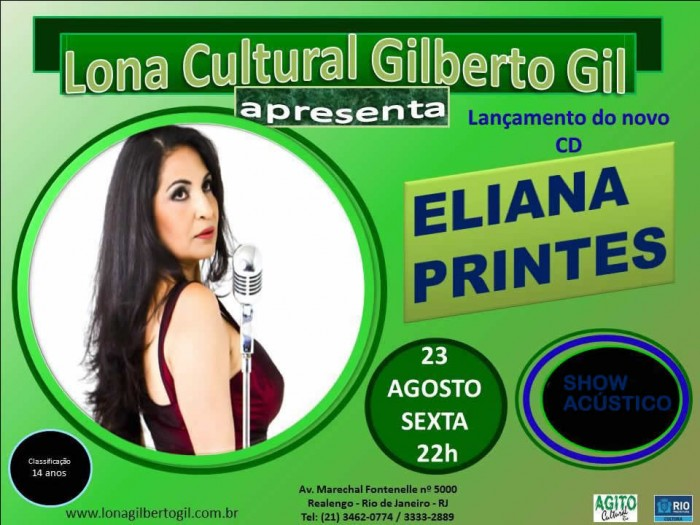 ShowElianaPrintes lona Gilberto Gil