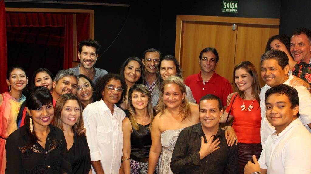 Eliana Printes Daniel Delsarto e Chico da Silva  camarim Teatro Manauara